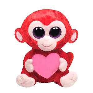 Beanie Boo Monkey Named Charming